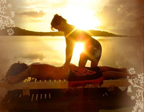 Le massage tahitien