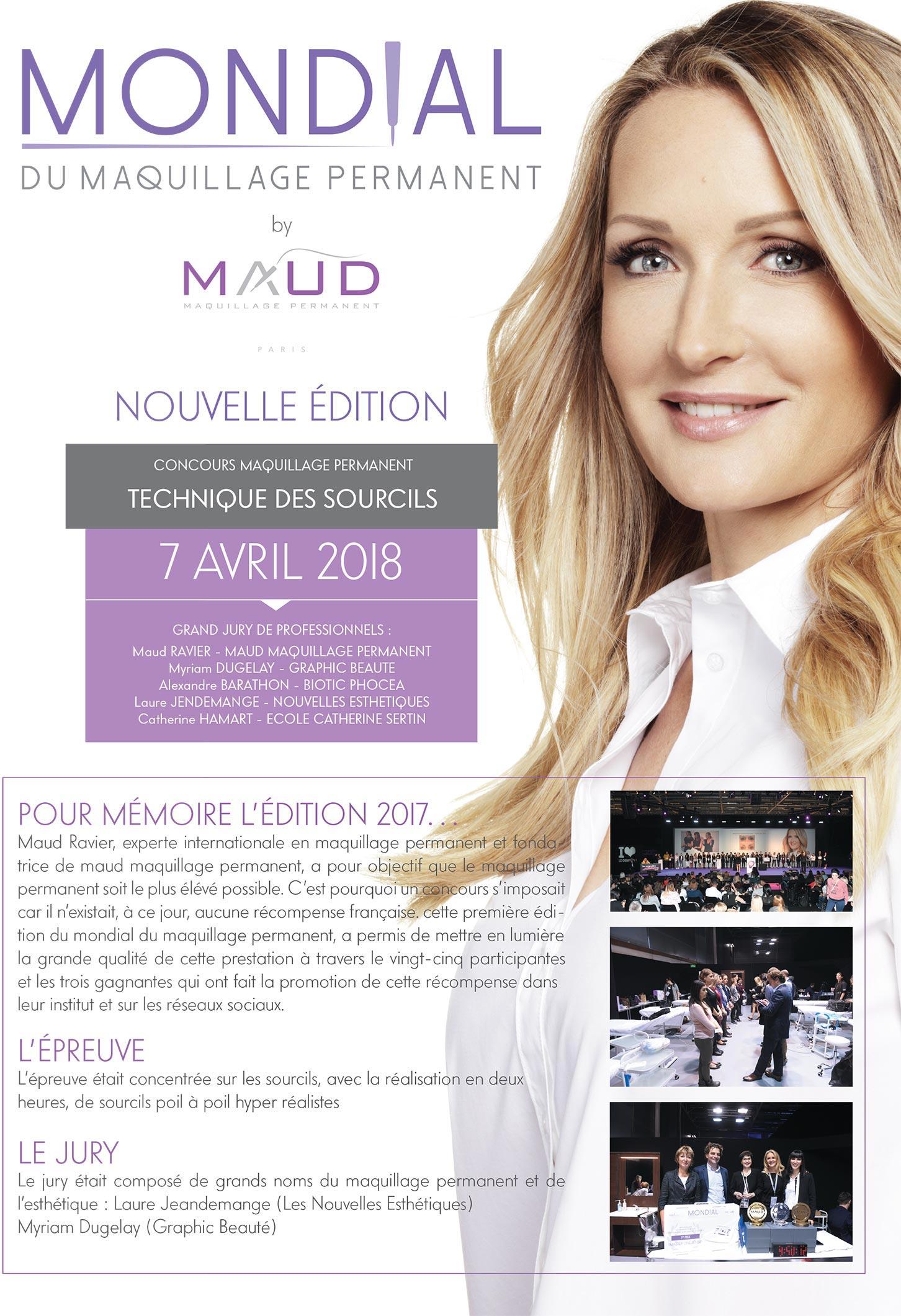 Concours Maquillage Permanent 2018, Paris